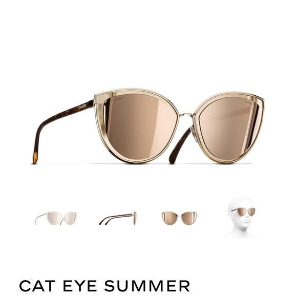 e4bc0ce9e8e1 Chanel Cat Eye Summer Sunglasses